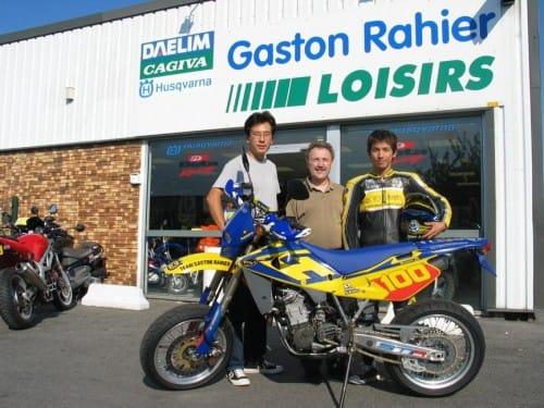 Ook na zijn carrière bleef Rahier actief jonge crossers sponsoren.