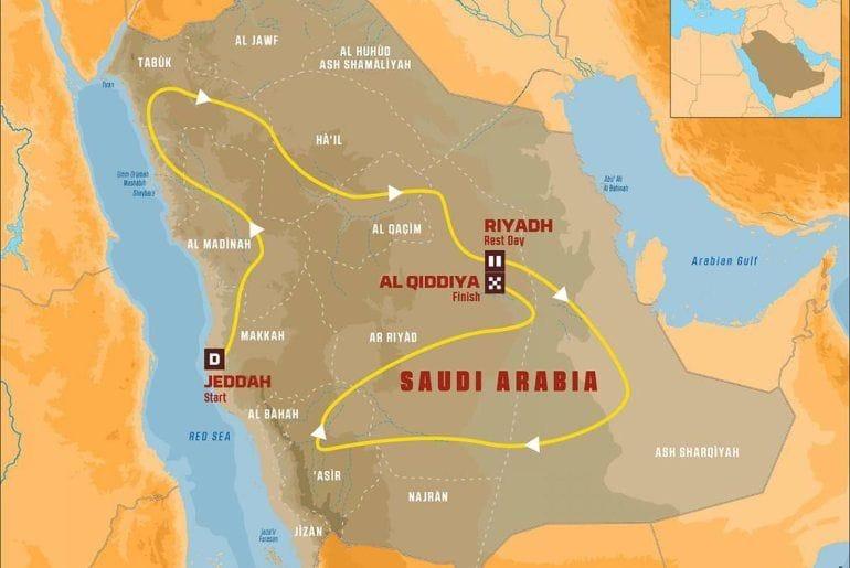 Route Dakar Rally 2020 In Saoedi-Arabië Bekend Gemaakt